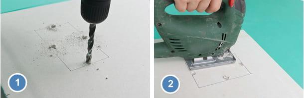 Как правильно резать гипсокартон электролобзиком