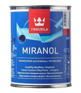 Описание Эмаль алкидная Tikkurila Miranol основа С глянцевая 0