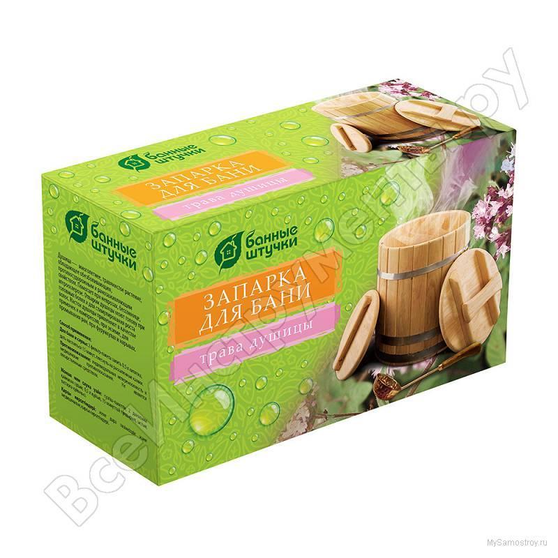 Описание Запарка для бани банные штучки трава душицы 20 фильтр-пакета х 1.5 г 30012