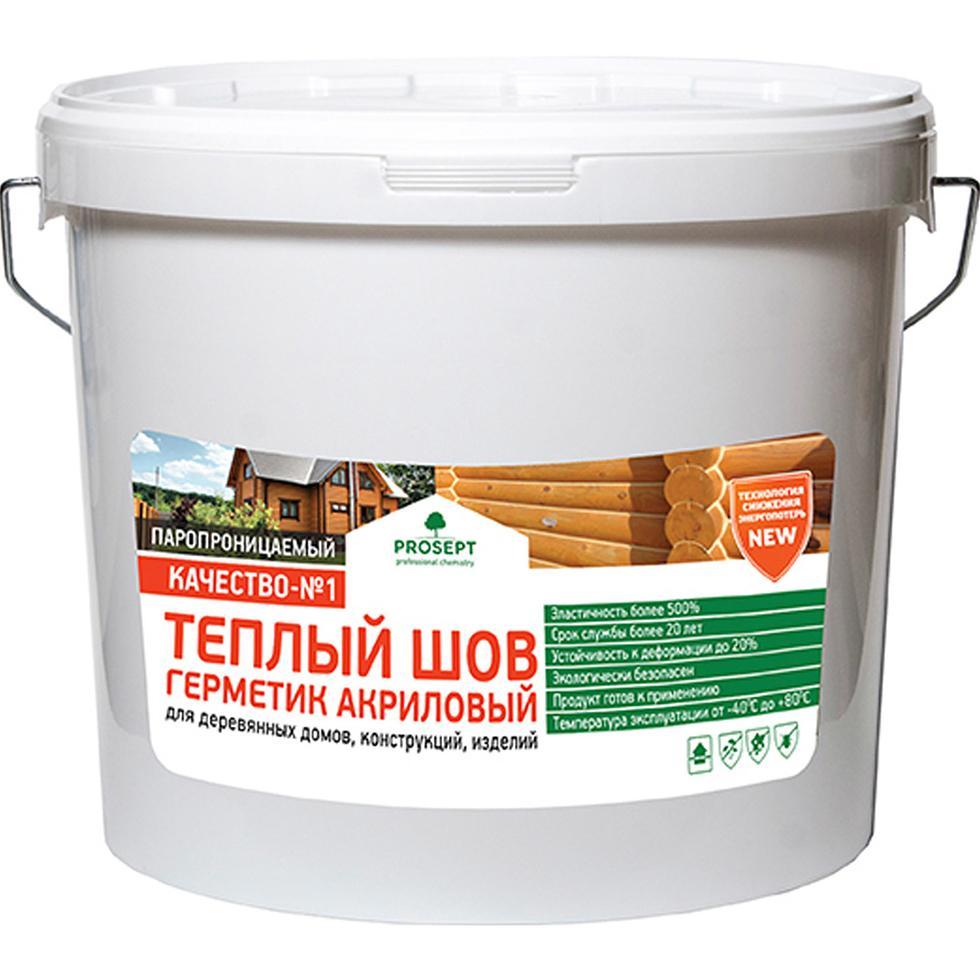 Описание Герметик PROSEPT Акриловый Теплый шов Белый 15 кг