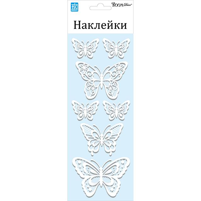 Описание наклейка ROOMDECOR Мерцающие бабочки 10х25см