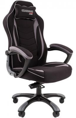Игровое кресло Chairman game 28 чёрное/серое (ткань