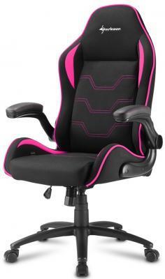 Игровое кресло Sharkoon Elbrus 1 чёрно-розовое (ткань