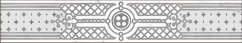 Керамический бордюр Grasaro Marble classic Snow White GT-270/G/f02 40х7 см