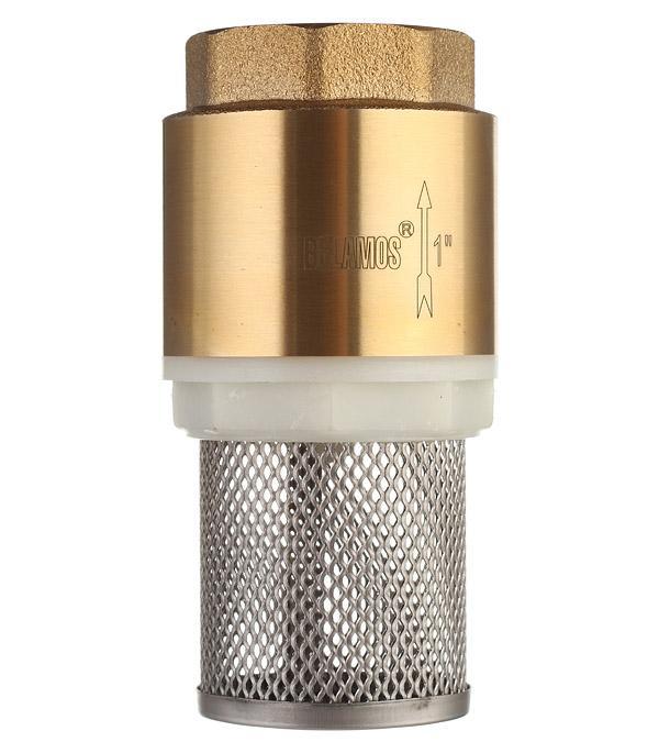 Описание Клапан обратный FV-A 1 ВН х 1 ВН латунный с несъёмной сеткой