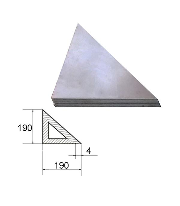 Описание Косынка металлическая 190х190х4 мм