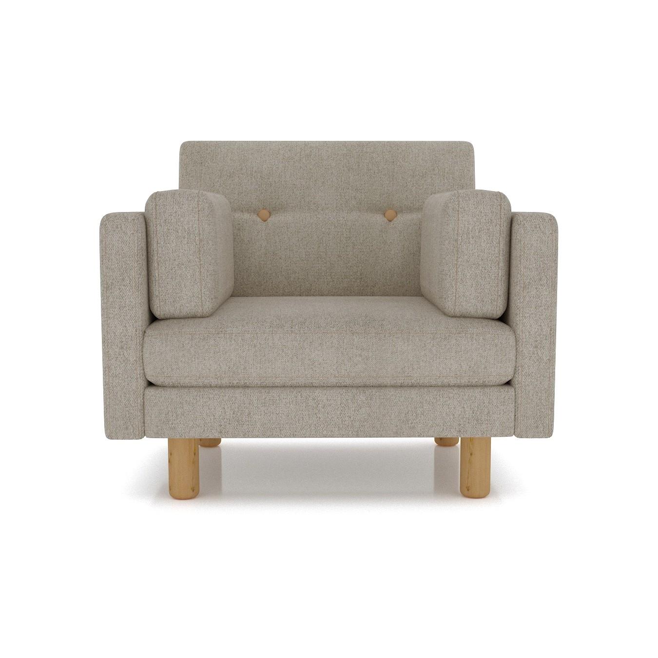 Кресло AS Изабелла м 90x80x83 серый