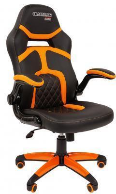 Кресло для геймеров Chairman game 18 черный/оранжевый