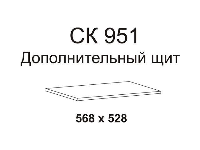 полка дополнительная 528х568мм венге ДСП Пр.В.2.0