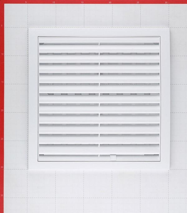 Описание Решетка вентиляционная пластиковая приточно-вытяжная ERA 250х250 мм регулируемая белая