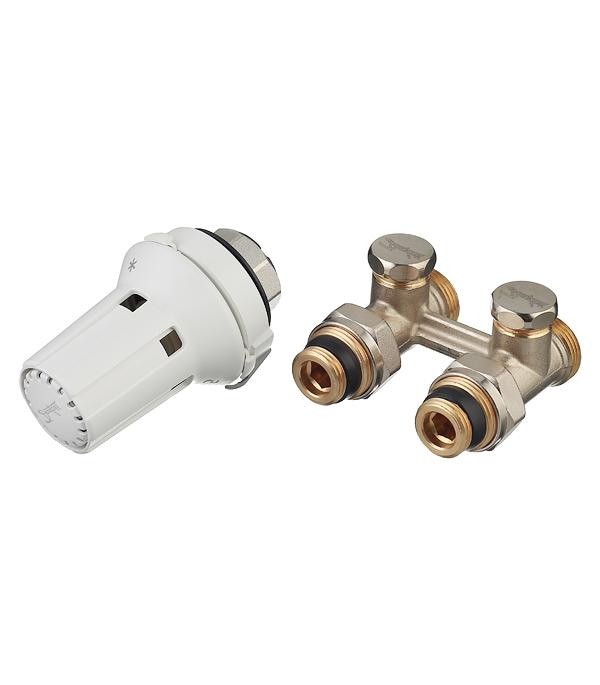 Описание Узел нижнего подключения прямой Danfoss (013G2239) H-образный 1/2 НР(ш) х 3/4 EK для радиатора с термоголовкой