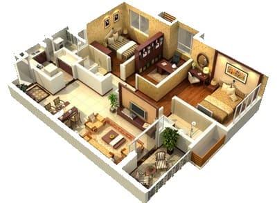 Состав помещений в проектируемом доме