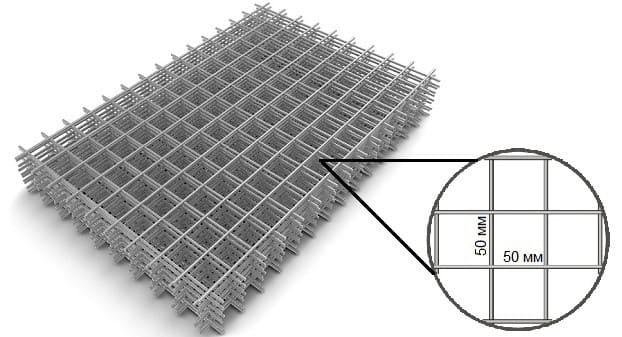 кладочная оцинкованная сетка Ø 3 мм