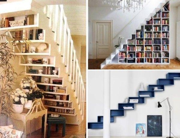 полки в ступенях лестницы